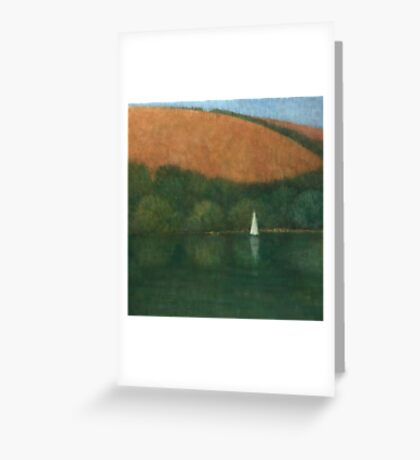 Sailing at Trelissick, Cornwall Greeting Card