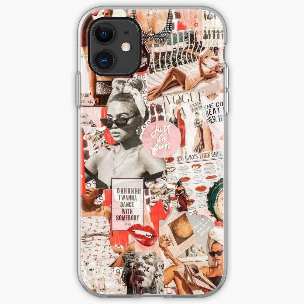 red retro collage  iPhone Case & Cover