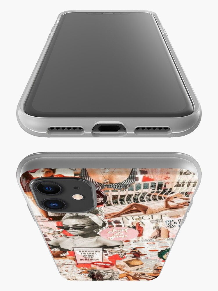 Alternate view of red retro collage  iPhone Case & Cover