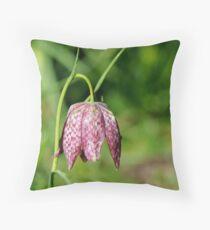 Fritillaria Meleagris Throw Pillow