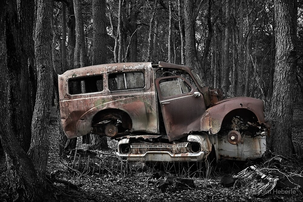 Automotive Graveyard - Stacked by Malcolm Heberle