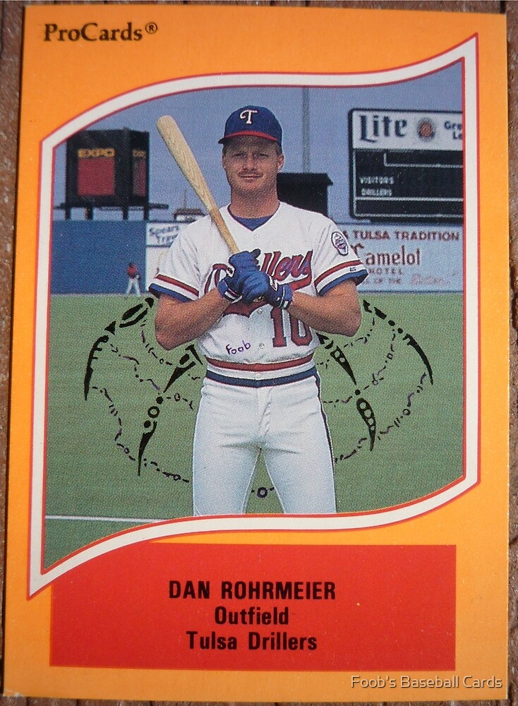 456 - Dan Rohrmeier by Foob's Baseball Cards