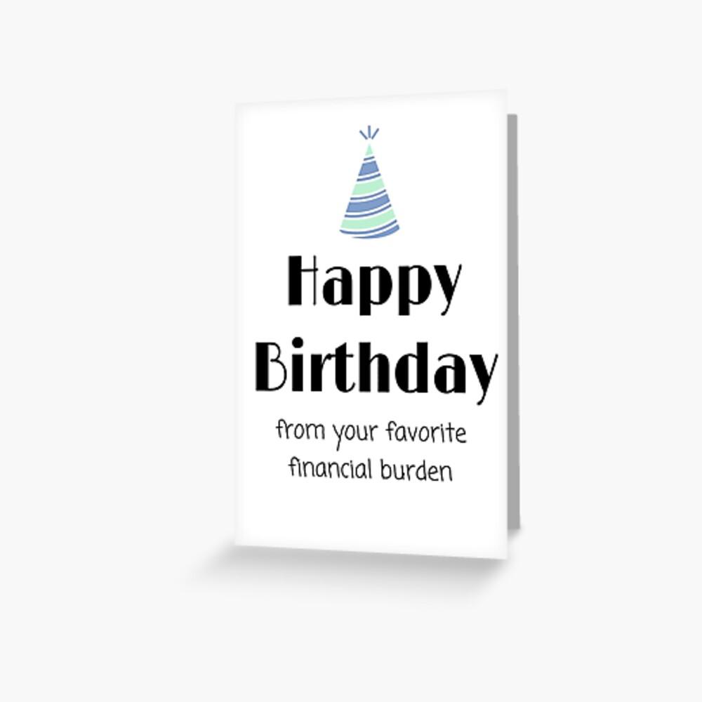 Mom/Dad Birthday Card Greeting Card