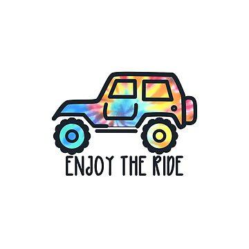 Disfruta el viaje - Tie Dye Jeep de its-anna