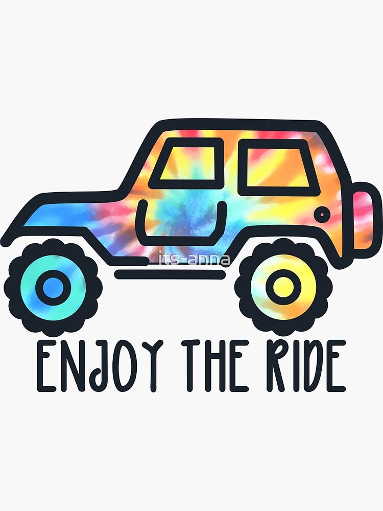 Genießen Sie die Fahrt - Tie Dye Jeep von its-anna