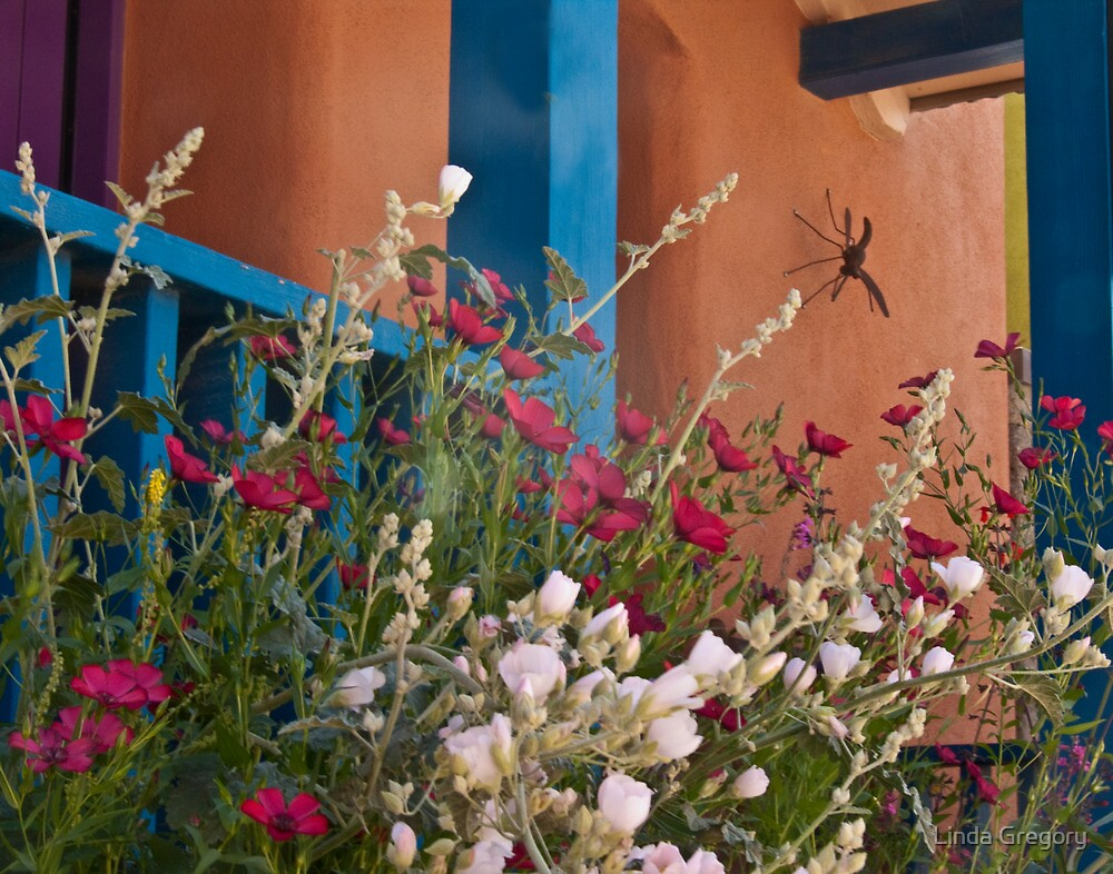 Flowers in the Barrio by Linda Gregory
