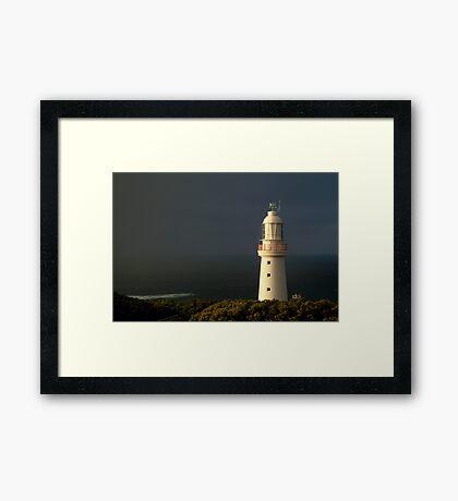 Sunrise Rain, Cape Otway Light Station Framed Print