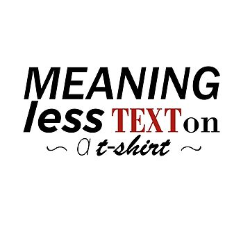 meaningless text... by pitipoy