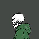 Waldgrüner Hoodie-Skelett von Rocket-To-Pluto