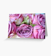 faded roses Greeting Card