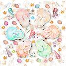 Rainbow Rabbits by Karin Taylor