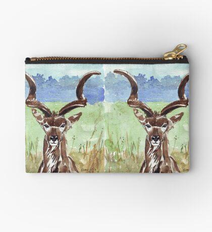 Greater Kudu (Tragelaphus strepsiceros) Zipper Pouch