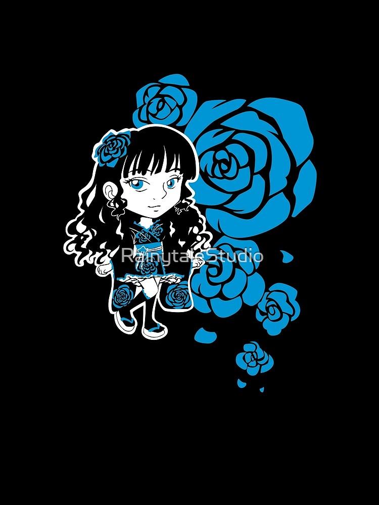 Wa-Lolita Blue Rose by RainytaleStudio