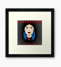 HORRORSHOW:PITCH BLACK HEART Framed Print
