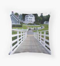 Harbor Walk, Maine  Throw Pillow