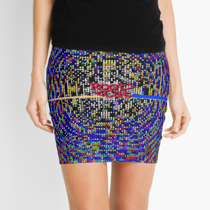 ASCii M☡NDELBR ^ T [i] by RootCat Mini Skirt