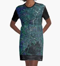 USGS TOPO Map Georgia GA Southwest Atlanta 246972 1954 24000 Inverted T-Shirt Kleid