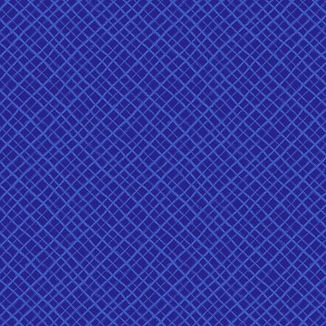 Diagonal Check Hand Drawn Lines / Blue by marketastengl