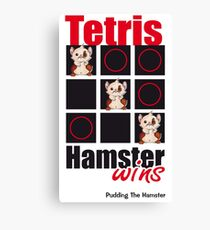 Pudding The Hamster - Tetris Canvas Print