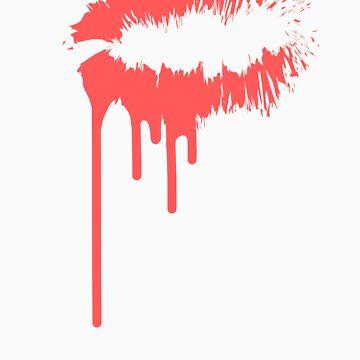Pink Bleeding Kiss by youngsam