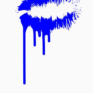 Blue Bleeding Kiss by youngsam