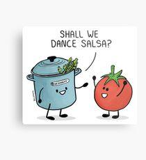 ¿Bailamos salsa? Le dice la olla al tomate Lámina metálica