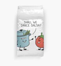 ¿Bailamos salsa? Le dice la olla al tomate Funda nórdica