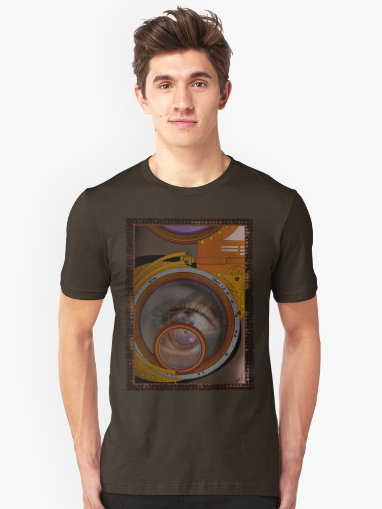 eye as a lens - steampunk variations Unisex T-Shirt Front