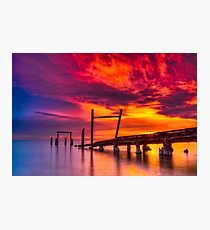 Dusk at Elwood Jetty #1 Photographic Print