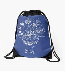 Blueprint to the cosmos Drawstring Bag