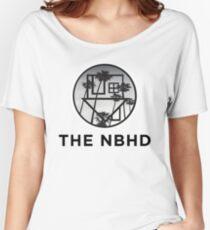 The Neighbourhood Palm Tree Print The NBHD Band Shirt Women's Relaxed Fit T-Shirt