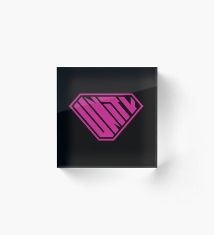Unity SuperEmpowered (Pink) Acrylic Block