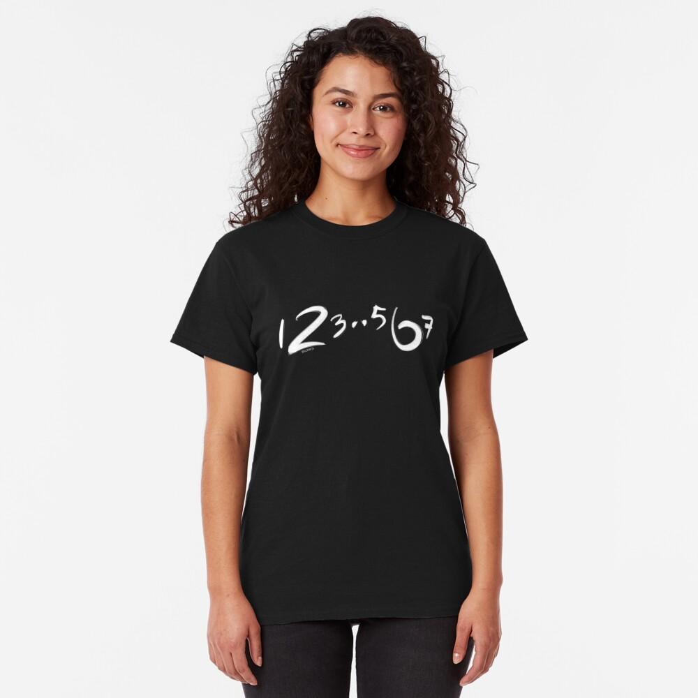 123567, los pasos básicos de salsa Camiseta clásica