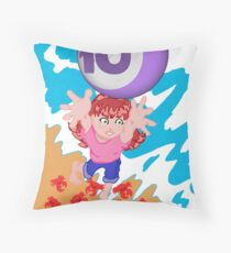 My postcard for the Superheroes Alphabet: the number 10! Throw Pillow