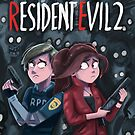 Resident Evil 2  - Claire and Leon by Dan Widdowson