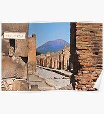 Mount Vesuvius from Pompeii Poster