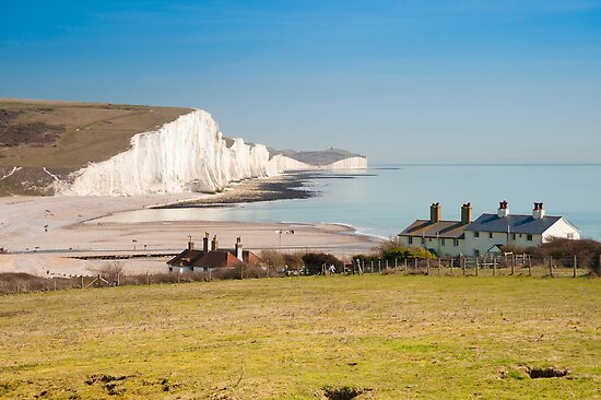 Seven Sisters from Cuckmere Haven: East Sussex. UK. by DonDavisUK