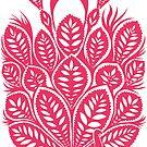 Peacock stencil - pink by ciriva