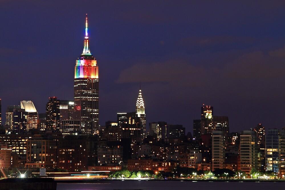 Empire State Building Celebrates Gay Pride by pmarella