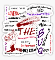 The scary internet bug Sticker