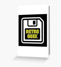 Retro Geek Greeting Card