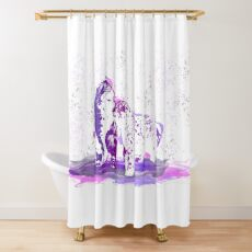 Affectionate Snow Leopards Shower Curtain