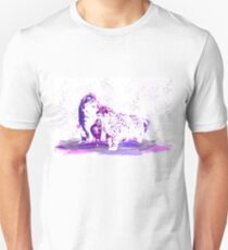 Affectionate Snow Leopards Slim Fit T-Shirt