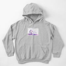 Affectionate Snow Leopards Kids Pullover Hoodie