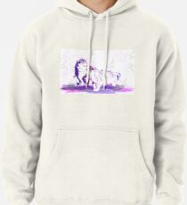 Affectionate Snow Leopards Pullover Hoodie