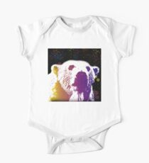 That Polar Bear is Watching Me Short Sleeve Baby One-Piece