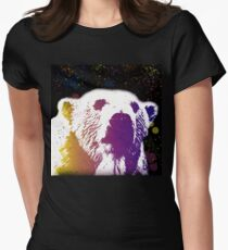 That Polar Bear is Watching Me Fitted T-Shirt