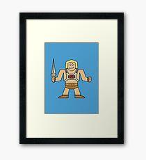 Flat He-Man Framed Print