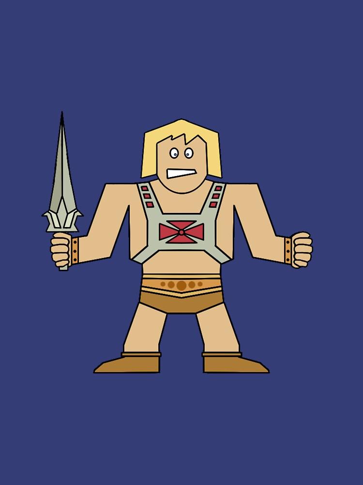 Flat He-Man by horatiohayden