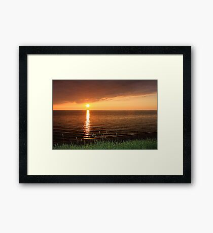 Lake Michigan Sunset, South Haven, MIchigan Framed Print